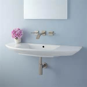 wall mount bathroom sinks issa wall mount bathroom sink ebay
