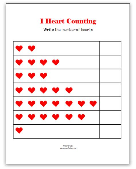 free printable preschool valentine worksheets valentine s math kindergarten worksheets kindergarten