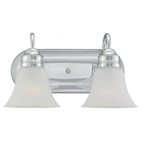 Chrome Vanity Light Fixtures Progress Lighting Lahara Collection 2 Light Chrome Vanity