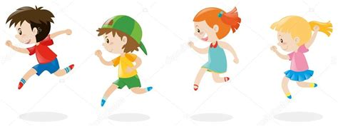 imagenes niños corriendo cuatro ni 241 os corriendo archivo im 225 genes vectoriales