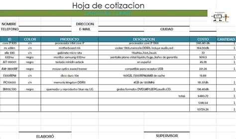 formato de cotizacion en word formatos de cotizaciones en blanco formatos de