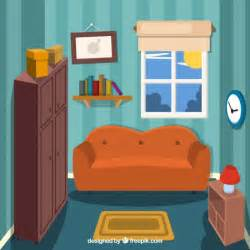 Livingroom Cartoon small living room vector free download