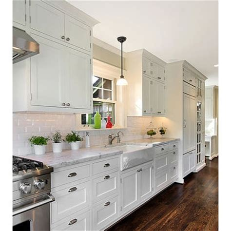 white galley kitchen design home