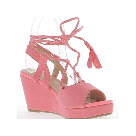 Murano Sandal Heels 5 Cm Pink sandals pink compensated in heels of 8 5 cm with