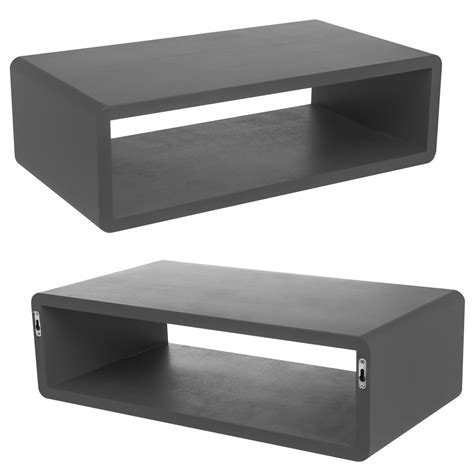 Wall Shelf For Sky Box by Floating Wall Mount Wooden Shelf Cube Sky Box Dvd Hifi