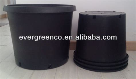 Large Black Outdoor Pots Pp Large Outdoor Plastic Pots Black Garden Pots Gallon