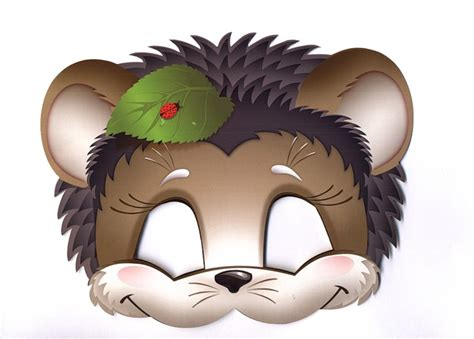 free printable hedgehog mask template 64 free kids face masks templates for halloween to print