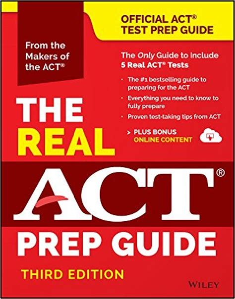 act book 2017 test prep books for 2016