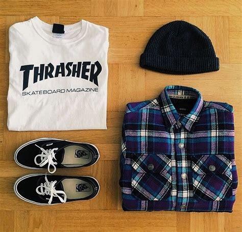 Tshirt Sk8 Deluxe One Clothing t shirt thrasher white black sleeves beenie