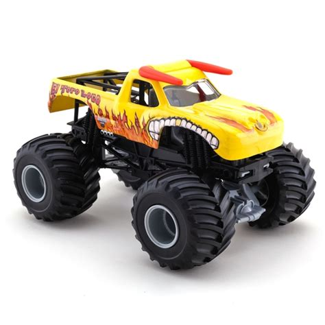 el toro loco monster truck videos 1 24 wheels el toro loco yellow truck