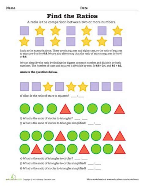 printable ratio games for 6th grade ratios worksheets and articles