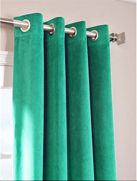peacock green curtains peacock green vintage blackout 100 cotton velvet lined