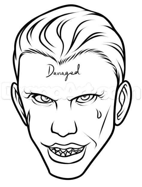 joker coloring pages easy how to draw suicide squad joker easy step by step dc
