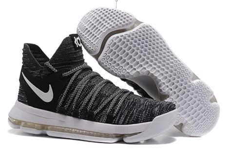 2017 cheap nike kd 10 oreo black white shoes for sale