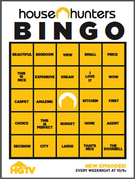 how does house hunters work house hunters party free printable bingo living locurto