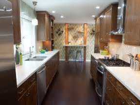 ideas for galley kitchens kitchen inspiring small galley kitchen design with woodne flooring and white countertop