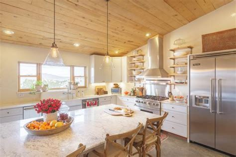 french country eat  kitchen  marble top island hgtv