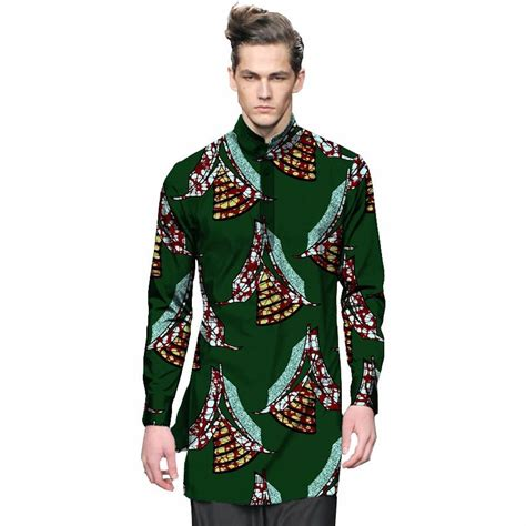 fashion mens dashiki clothes mens shirt personal