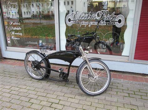 E Bike Cruiser by E Bike Pedelec Cruiser Herren Fahrrad Beachcruiser Chopper