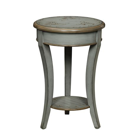 grey accent table michael anthony furniture floral top grey green round