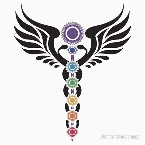 quot caduceus kundalini 7 chakras quot stickers by nitty