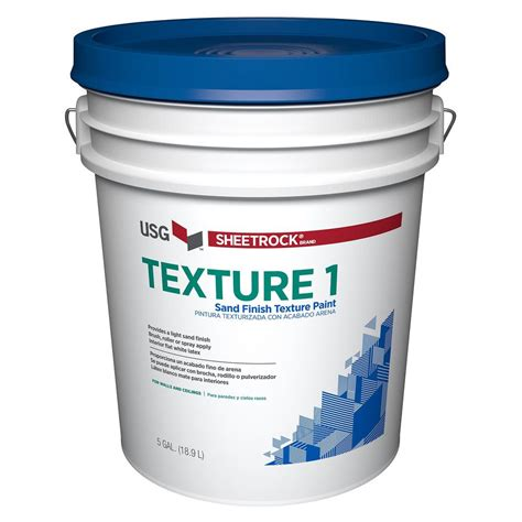 sheetrock brand 5 gal wall and ceiling sand finish texture paint 547055 the home depot