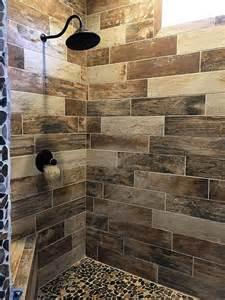 tile bathroom wood showers tiled ideas shower for floor