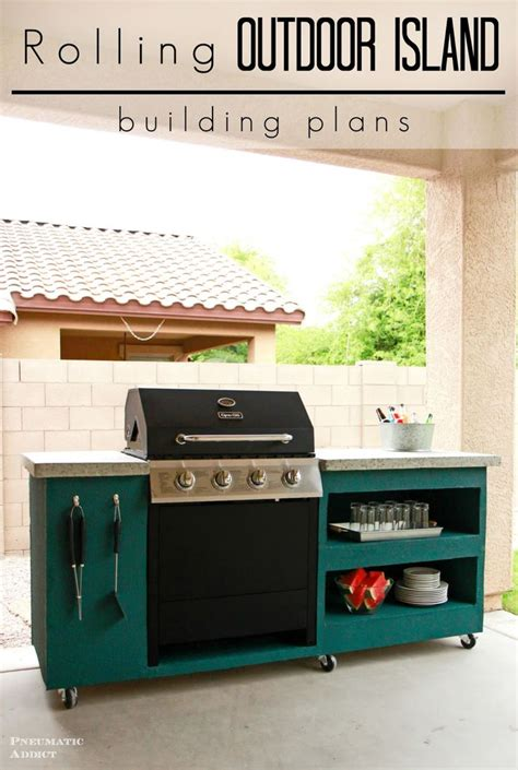 diy outdoor kitchen cabinets diy rolling outdoor kitchen building plans this is