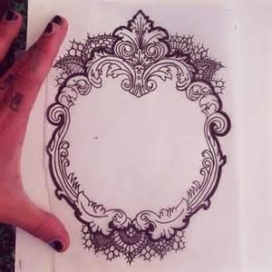 vintage victorian style frame tattoo pinterest style