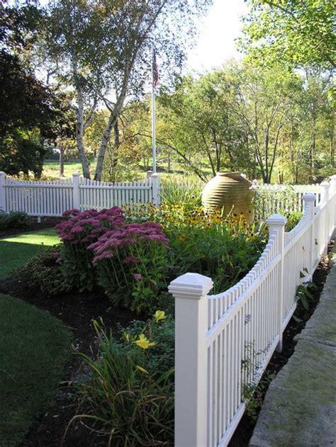 Picket Fence Garden Ideas Fence Design Ideas Remodels Photos