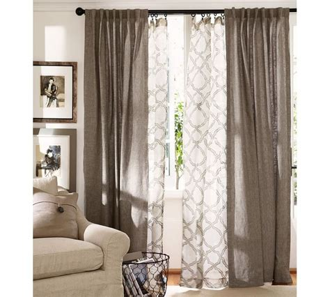 sheer curtains pottery barn kendra trellis sheer drape pottery barn bret