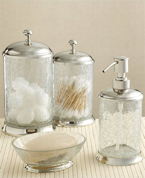 crackle glass bathroom accessories 17 best images about bed bath on pinterest cotton