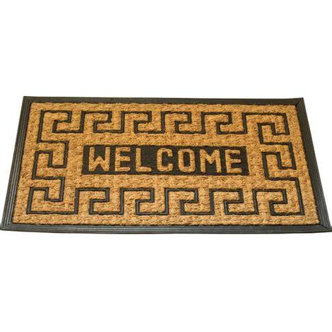 tappeto di cocco free zerbino in fibra di cocco e gomma mod welcome new