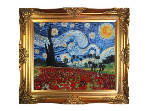 9 Paintings Framing Frame by Reproduction Painting Gogh Paintings Starry