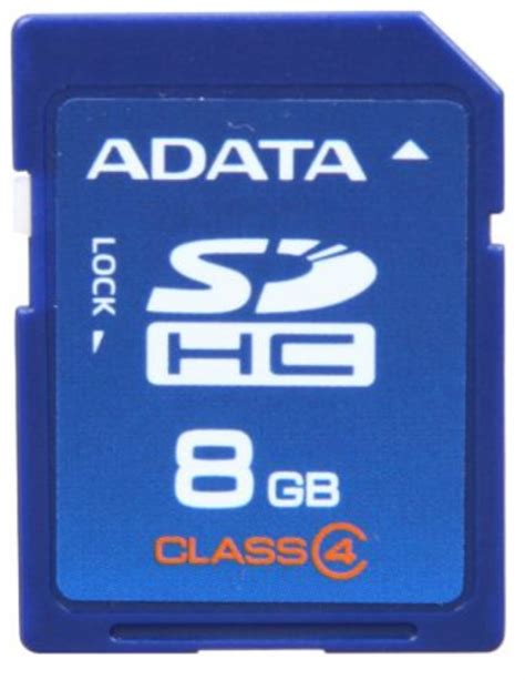 Memory Card Adata 8gb Buy Adata 8gb Sdhc Sd Memory Card Class 4 Asdh8gcl4 R At