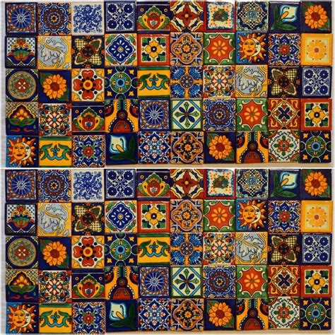 Mexican Handcrafted Tile - mexican folk patterns memes