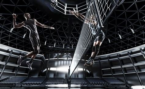 futuristic sports wireframe background by tim tadder photography
