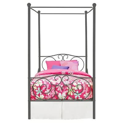 target canopy bed rosedale metal canopy bed twin pink dorel home