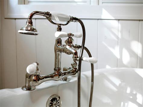 bathtub shower faucet tub faucets hgtv