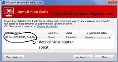 membuat virus buatan mengetes kinerja antivirus anda dengan membuat virus