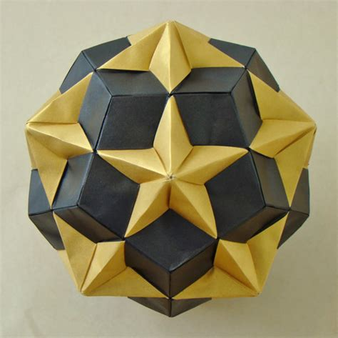 How To Make A Dodecahedron Out Of Paper - origami diagrams compound of dodecahedron and great