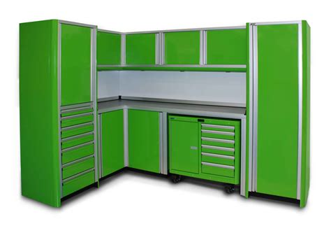 Metal Cabinets For Garage Storage by Green Metal Storage Cabinet With Drawers And Doors For