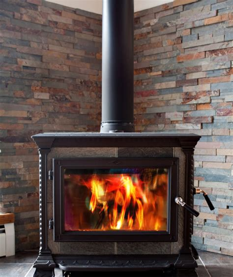 replace fireplace with wood burning stove in corner leave