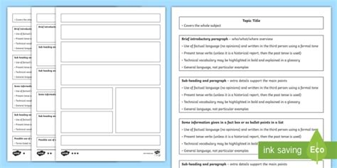 report writing template ks2 non chrolologicalinformation ks2 non chronological report differentiated writing guides and