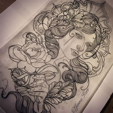jenna tattoo designs 39 best drawings by kerr images on