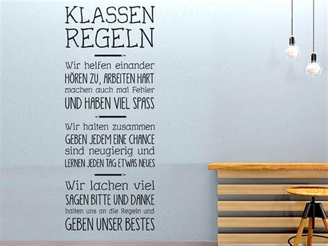 Wandgestaltung Kinderzimmer Mit Farbe 2816 by Wandtattoo Klassenregeln F 252 R Schulen Wandtattoos De
