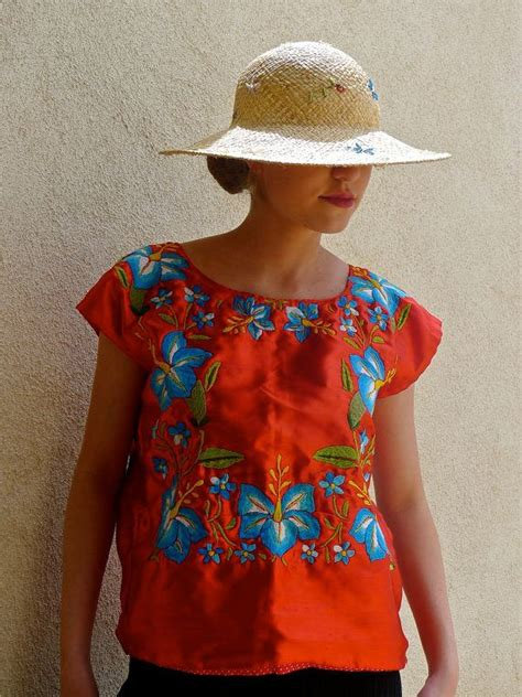 Blue Ethnic Embriodery Sml Blouse 17 best images about huipil oaxaca on