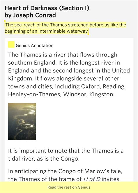 thames river heart of darkness the sea reach of the thames heart of darkness section i