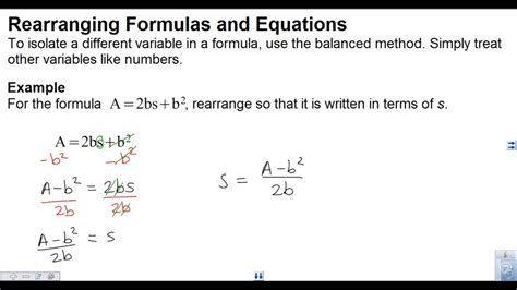 Can I Do Mba Without Maths by Rearranging Equations And Formulas