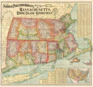 Map Of Massachusetts And Rhode Island by File 1900 National Publishing Railroad Map Of Connecticut